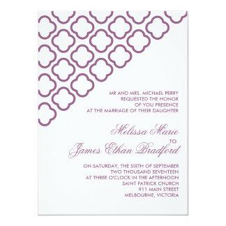 Custom modern quatrefoil wedding invites