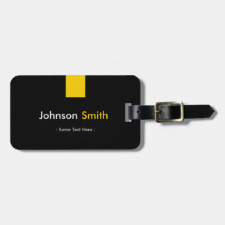 Custom Modern - Simple Yellow Color Personal Luggage Tag