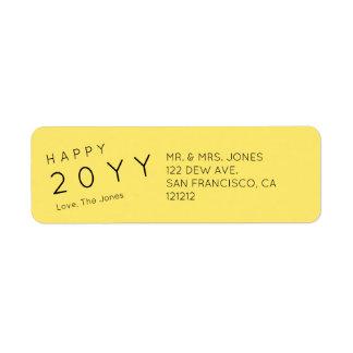 Custom Modern Yellow Holiday Return Address Return Address Label