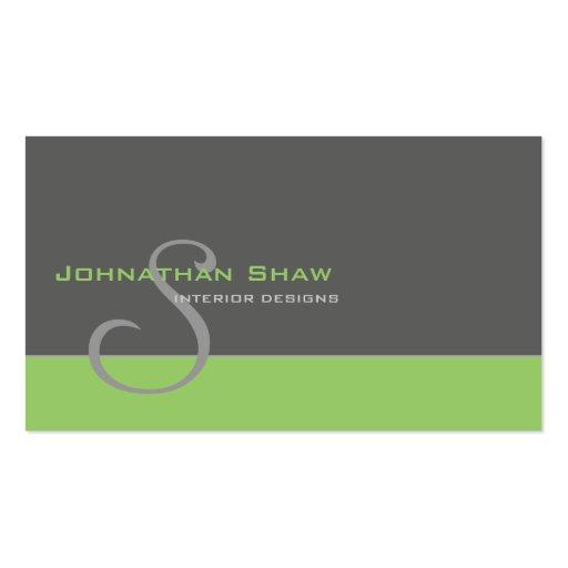 Custom Monogram 1 Business Card Templates
