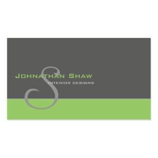 Custom Monogram 1 Pack Of Standard Business Cards