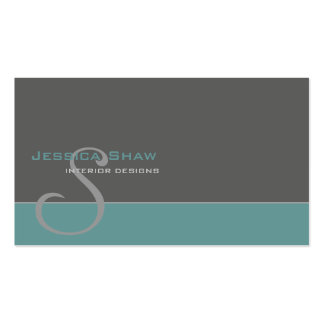 Custom Monogram 4 Double-Sided Standard Business Cards (Pack Of 100)