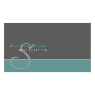 Custom Monogram 4 Pack Of Standard Business Cards