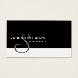 Custom Monogram 5 Business Card