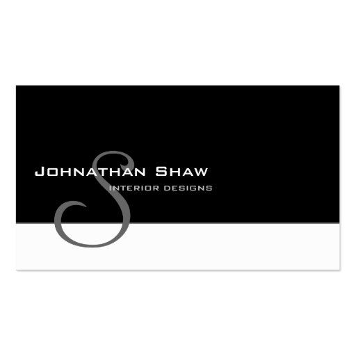 Custom Monogram 5 Pack Of Standard Business Cards