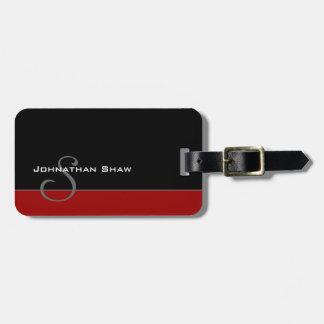 Custom Monogram 5 (Red) Travel Bag Tag