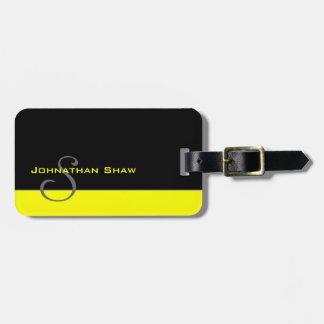 Custom Monogram 5 (Yellow) Bag Tags