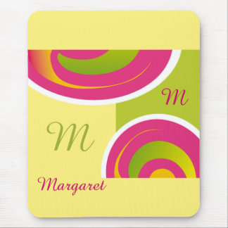 Custom Monogram and Name Birthday Gift Mousepads