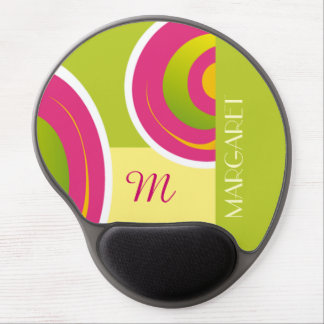 Custom Monogram and Name Birthday Gift Mousepads Gel Mouse Pad