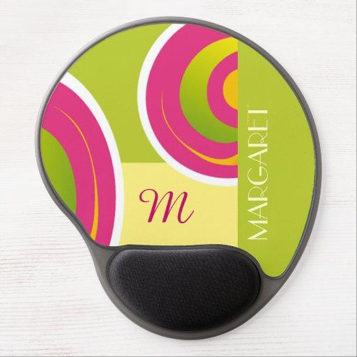 Custom Monogram and Name Birthday Gift Mousepads Gel Mouse Mat