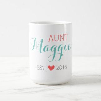 Custom Monogram Aunt Coffee Mug