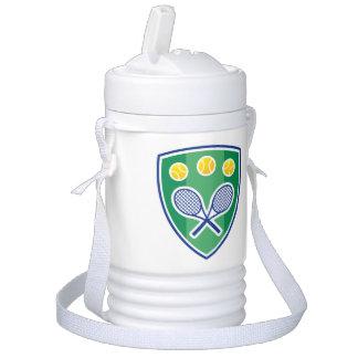 Custom monogram beverage cooler for tennis player