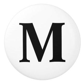 Custom Monogram Ceramic Knob