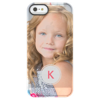 Custom Monogram Circle Personalized Photo Template Permafrost® iPhone SE/5/5s Case