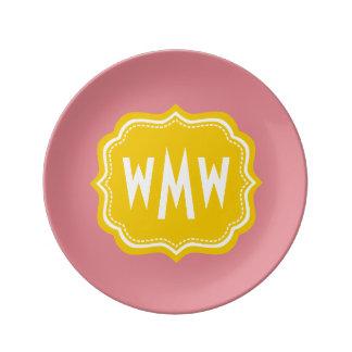 Custom Monogram Decorative Porcelain Plate
