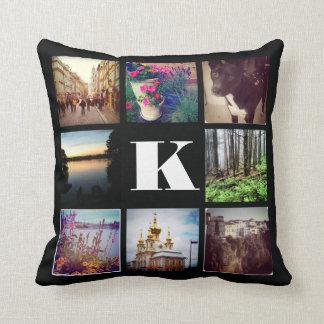 Custom Monogram Eight Instagram Photo Pillow