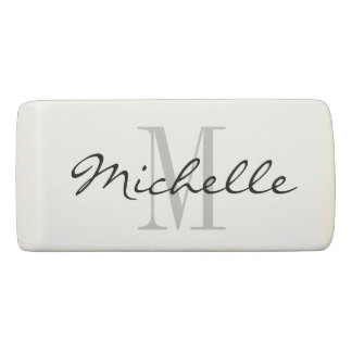 Custom monogram eraser | party favor ideas