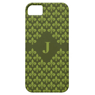 Custom Monogram Fleur-De-Lis iPhone 5 Case-Mate iPhone 5 Covers