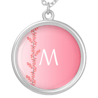 Custom Monogram Flower Branch necklace