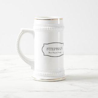 Custom monogram groomsmen elegant beer stein beer steins