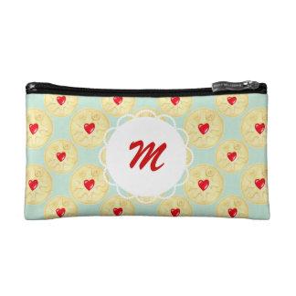 Custom Monogram Jammy Dodger Biscuit Makeup Bag