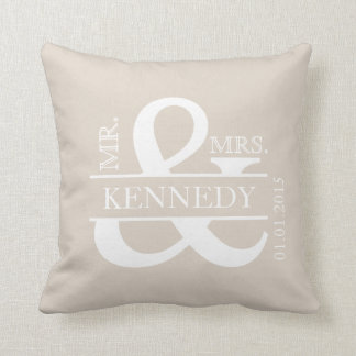 Custom Monogram Keepsake Wedding Pillow Throw Cushions