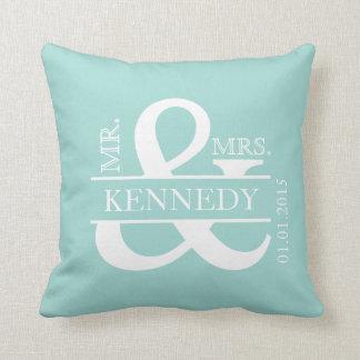 Custom Monogram Keepsake Wedding Pillow Throw Cushions