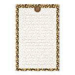 Custom Monogram Leopard Print Lined Stationery