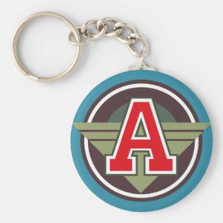 """Custom Monogram Letter """"A"""" Initial Key Ring"""