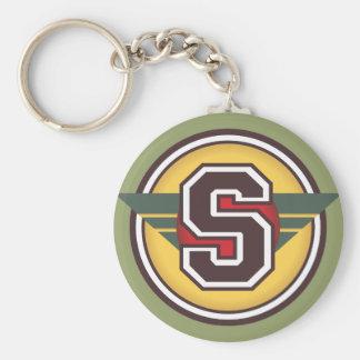"""Custom Monogram Letter """"S"""" Initial Key Ring"""