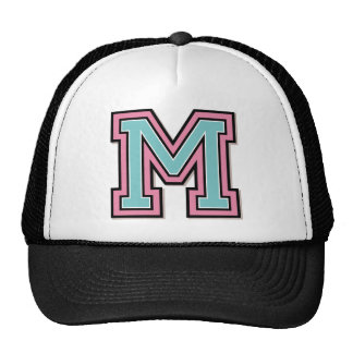 "Custom Monogram ""M"" Initial Hats"