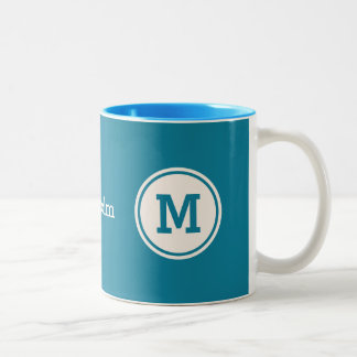 Custom monogram, name & color mugs