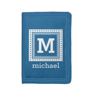 Custom monogram, name & color wallets