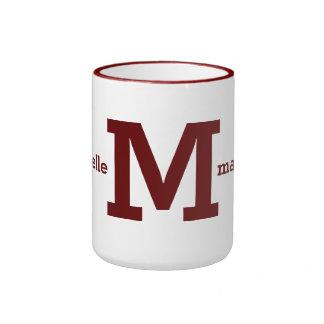 Custom monogram & name mugs