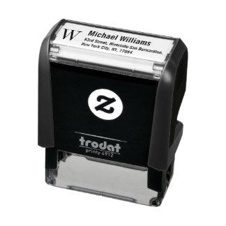 Custom Monogram Name Professional Return Address Self-inking Stamp