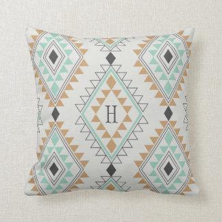 Custom Monogram Navajo Diamonds Throw Pillow