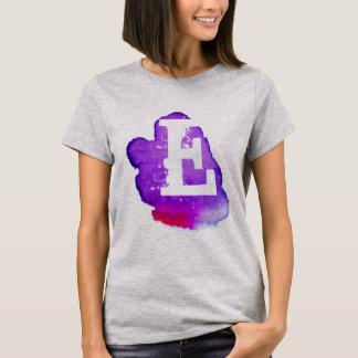 Custom Monogram on Purple Watercolor T-Shirt