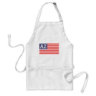 Custom monogram patriotic American US flag BBQ Standard Apron