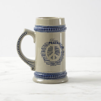 Custom Monogram Peace mugs