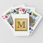 Custom Monogram Picture, nonmetallic gold colours. Deck Of Cards
