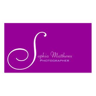 Custom Monogram Purple Business Card Template
