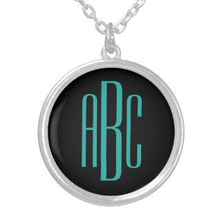 Custom Monogram Silver Plated Necklace