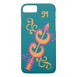 Custom Monogram Swirls Cross Country Runner iPhone 7 Case