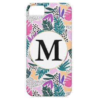 Custom Monogram Tropical Phone Cover