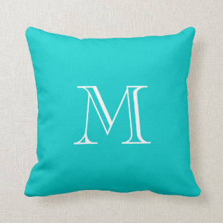 Custom Monogram Turquoise Pillow
