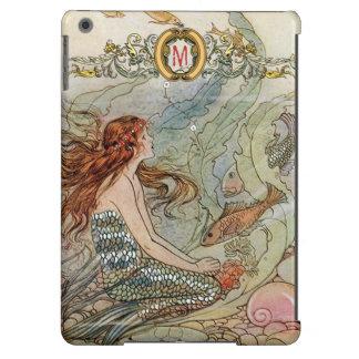 Custom Monogram Under the Sea Vintage Mermaid iPad Air Case