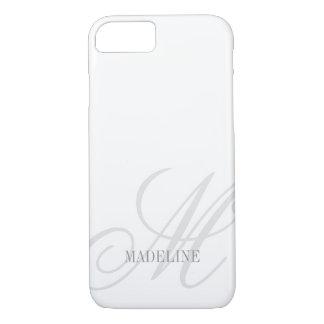 Custom monogram watermark elegant iPhone 7 case