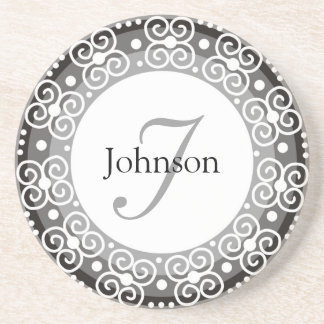 Custom Monogram Wedding Coaster