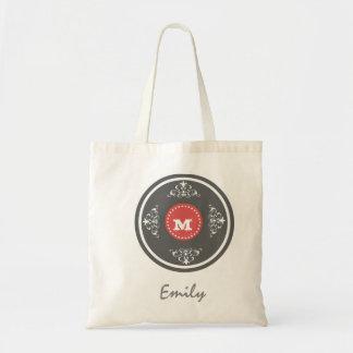 Custom Monogram Wedding Favor Tote Bag- Slate