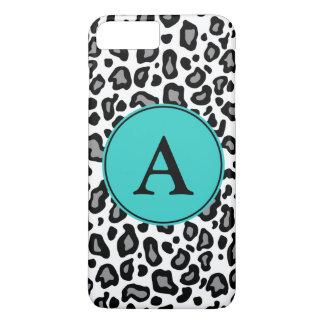 Custom Monogram White Leopard iPhone Plus Case